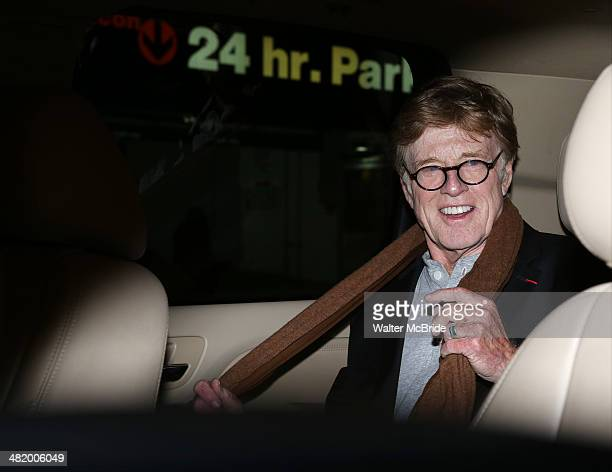Robert Redford attends Broadway's 'After Midnight' at The Brooks Atkinson Theatre on April 1 2014 in New York City Actress Vanessa Williams joined...