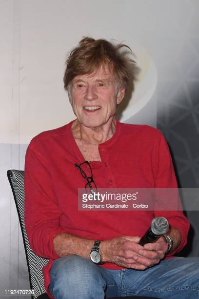 """Robert Redford attends """"Conversation with"""" during the 18th Marrakech International Film Festival -Day Nine- on December 07, 2019 in Marrakech,..."""
