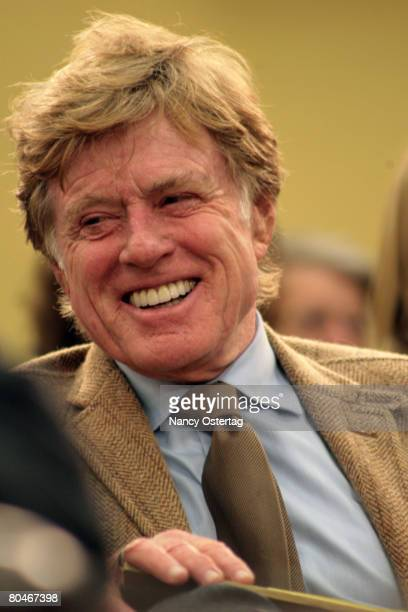 Robert Redford attends the House Appropriations Committee Hearing On Funding For The Arts on April 1 2008 in Washington DC