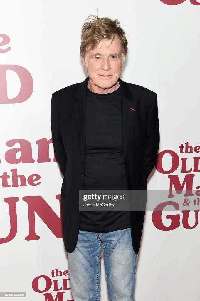 """""""The Old Man & The Gun"""" New York Premiere : Nachrichtenfoto"""