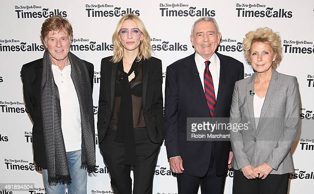 Robert Redford, Cate Blanchett, Dan Rather and Mary Mapes attend TimesTalks Presents Cate Blanchett, Robert Redford, Mary Mapes And Dan Rather In...