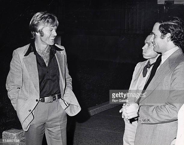 Robert Redford Dick Cavett and Bob Woodward during Simon Schuster Book Party for All the President's Men June 3 1974 at Washington Post Newspaper...