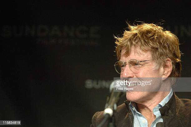 Robert Redford during 2006 Sundance Film Festival Opening Day Press Conference at Kimball Art Center in Park City Utah United States