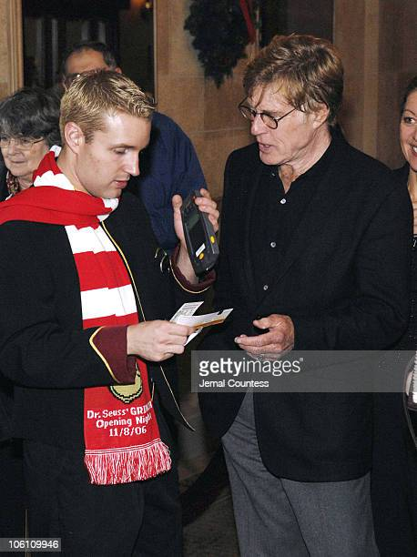 Robert Redford during Dr Seuss' How the Grinch Stole Christmas The Musical Broadway Premiere at Hilton Theater in New York City New York United States