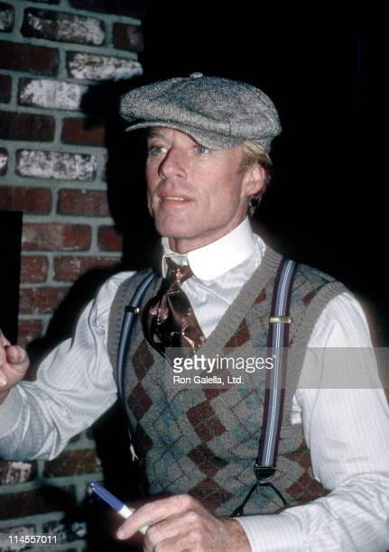 Robert Redford during On Location for 'The Natural' April 1 1984 in Los Angeles California United States