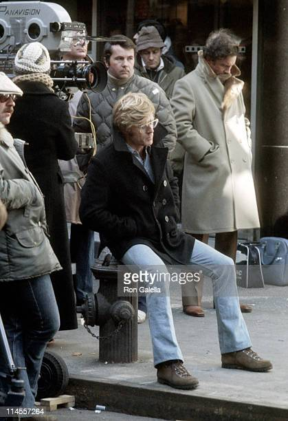 Robert Redford during On the Set of 'Three Days of the Condor' January 23 1975 at Ward's Island in New York City New York United States