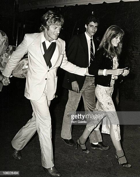 Robert Redford guest and Shauna Redford during Graduation Party for Jamie Redford June 2 1980 at Tavern on the Green in New York City New York United...