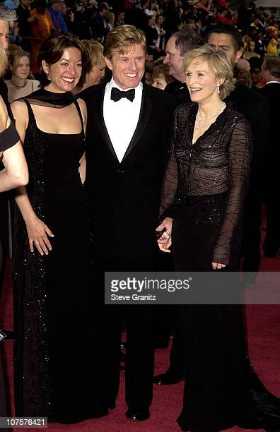 Robert Redford his girlfriend Sibylle Szaggars and Glenn Close