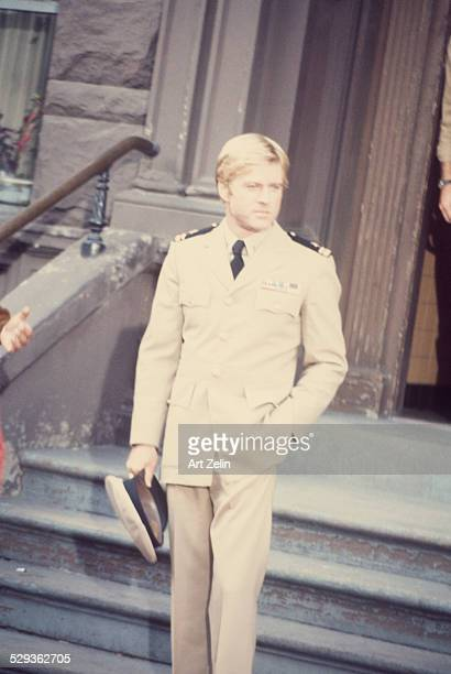 Robert Redford in costume for 'The Way We Were' circa 1970 New York