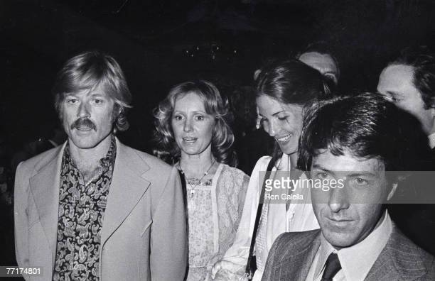 Robert Redford Lola Redford Anne Hoffman and Dustin Hoffman