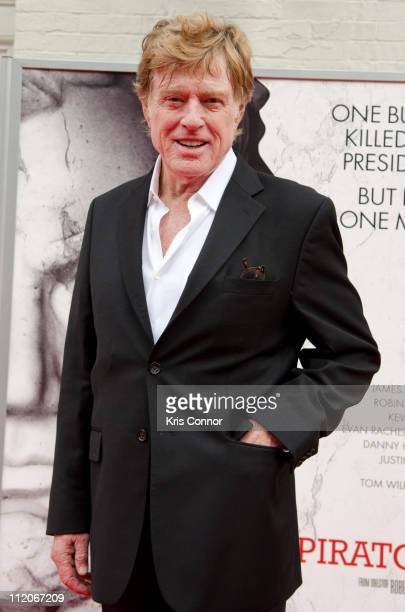 Robert Redford poses for photographers on the red carpet during the premiere of 'The Conspirator' presented by The American Film Company Ford's...