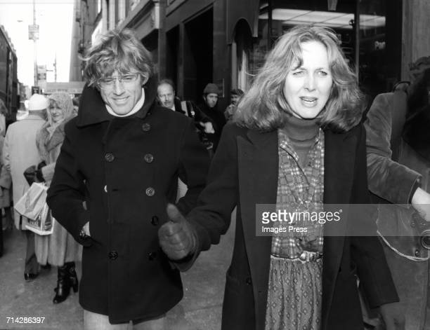 Robert Redford with unidentified female friend circa 1980 in New York City