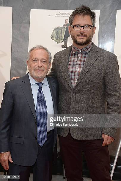 Robert Reich and Jacob Kornbluth attend Inequality For All New York Premiere at Paley Center For Media on September 25 2013 in New York City