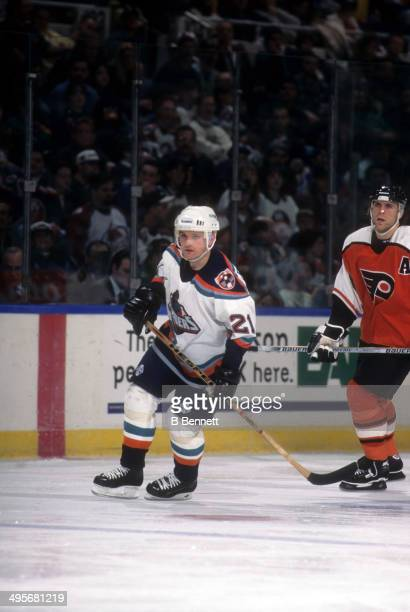 Robert Reichel of the New York Islanders skates on the ice during an NHL game against the Philadelphia Flyers on March 22, 1997 at the Nassau...