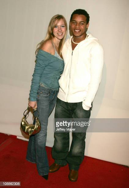 Robert Ri'chard and Tiffany Michael during CBS and UPN 2005 TCA Party Arrivals at Quixote Studios in Los Angeles California United States