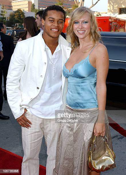 Robert Ri'Chard and Tiffany Michael during House of Wax Los Angeles Premiere Arrivals at Mann Village Theatre in Westwood California United States