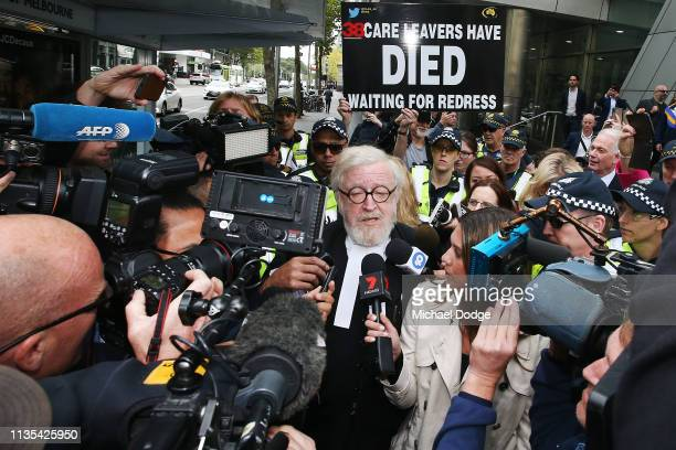 Robert Richter QC lawyer for Cardinal George Pell leaves the Melbourne County Court on March 13 2019 in Melbourne Australia Cardinal George Pell was...