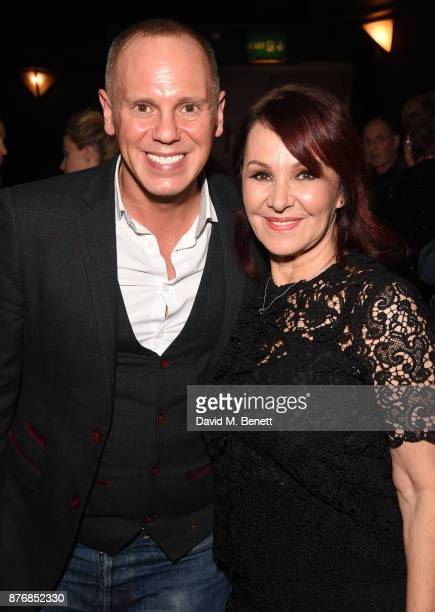 Robert Rinder and Arlene Phillips attend an after party celebrating the final performance of Arlene Phillips' one woman show 'Arlene The Glitz The...