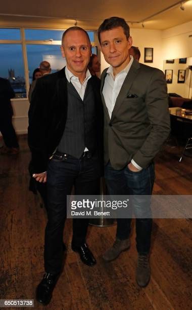 Robert Rinder and Ben Shephard attend the launch of Kate Garraway's new book 'The Joy Of Big Knickers ' at Waterstones Piccadilly on March 9 2017 in...