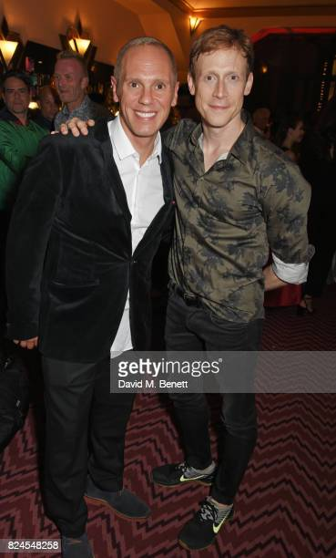 Robert Rinder and Edward Watson attend a drinks reception celebrating 'Gala For Grenfell' a special gala bringing together a host of the world's...
