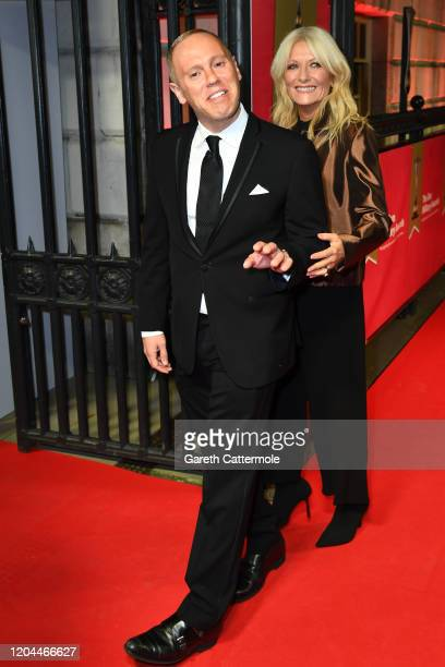 Robert Rinder and Gaby Roslin attend The Sun Military Awards 2020 at Banqueting House on February 06 2020 in London England