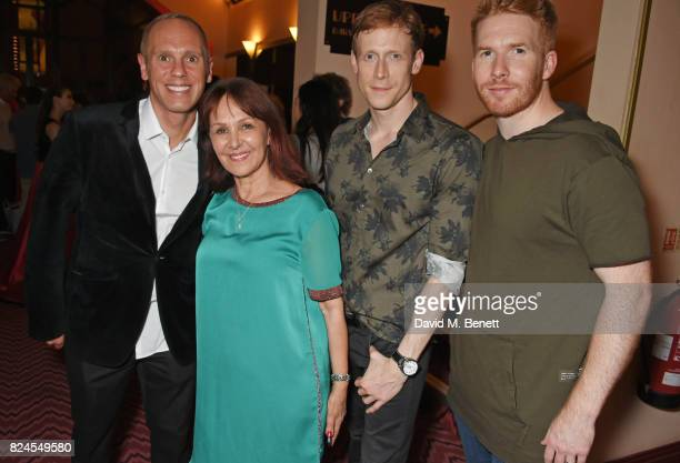 Robert Rinder director Arlene Phillips Edward Watson and Neil Jones attend a drinks reception celebrating 'Gala For Grenfell' a special gala bringing...