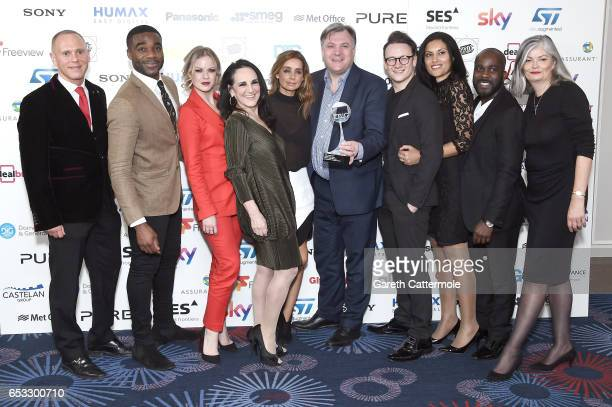 Robert Rinder Ore Oduba Joanne Clifton Lesley Joseph Lousie Redknapp Ed Balls Kevin Clifton Claudia Fragapane Melvin Odoom and guest with the award...