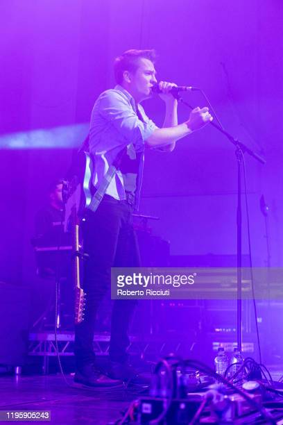 "Robert Robertson of Tide Lines performs on stage at Assembly Rooms as part of the ""Burns and Beyond"" festival on January 24, 2020 in Edinburgh,..."