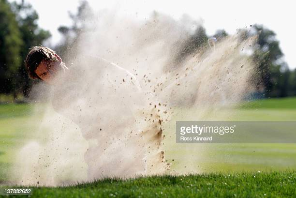 Robert Rock of England during final round of the Abu Dhabi HSBC Golf Championship at the Abu Dhabi HSBC Golf Championship on January 29 2012 in Abu...