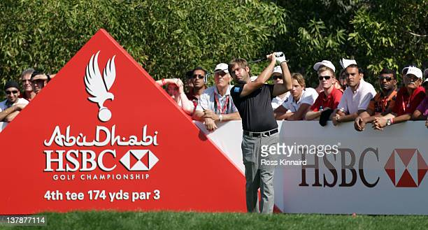 Robert Rock of England during the final round of Abu Dhabi HSBC Golf Championship at the Abu Dhabi HSBC Golf Championship on January 29 2012 in Abu...