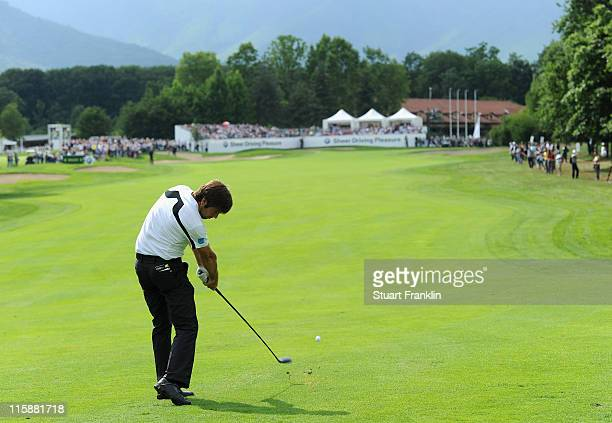 Robert Rock of England in action during the third round of BMW Italian Open at Royal Park I Roveri on June 11 2011 in Turin Italy