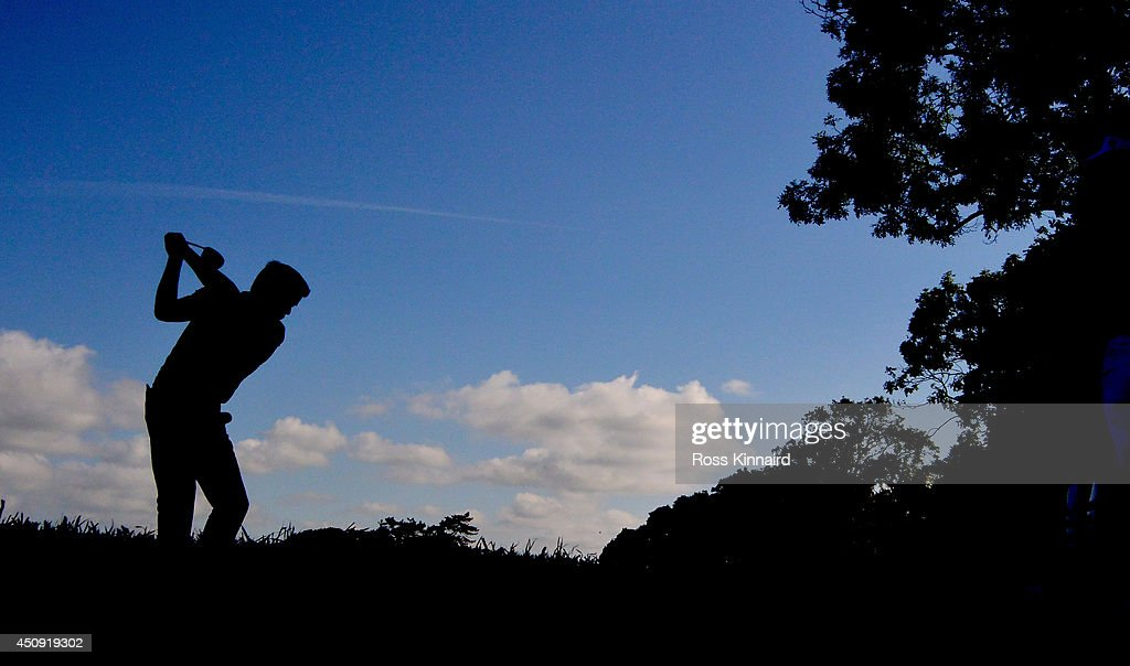 Robert Rock of England on the 6th tee during the second round of the Irish Open at the Fota Island Resort on June 20, 2014 in Cork, Ireland.