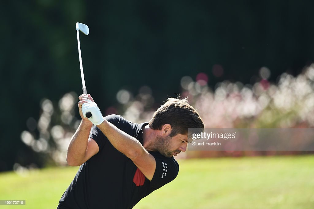 Robert Rock of England plays a shot during the third round of the Tshwane Open at Pretoria Country Club on March 14, 2015 in Pretoria, South Africa.