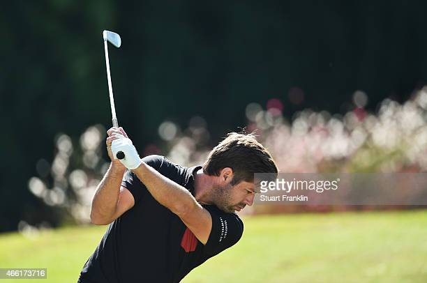 Robert Rock of England plays a shot during the third round of the Tshwane Open at Pretoria Country Club on March 14 2015 in Pretoria South Africa