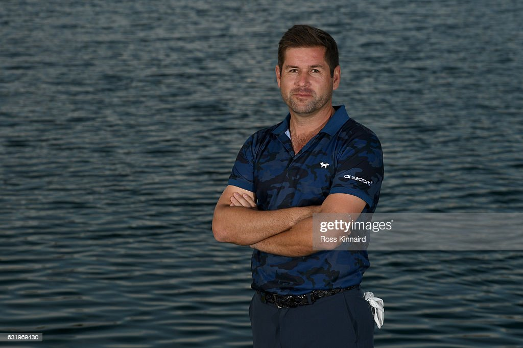 Robert Rock of England poses for a picture during the pro-am event prior to the Abu Dhabi HSBC Championship at Abu Dhabi Golf Club on January 18, 2017 in Abu Dhabi, United Arab Emirates.