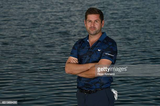 Robert Rock of England poses for a picture during the proam event prior to the Abu Dhabi HSBC Championship at Abu Dhabi Golf Club on January 18 2017...