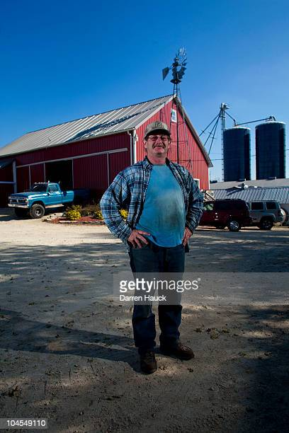 Robert Roden stands for a portrait at the farm RobNCin on September 29 2010 in West Bend Wisconsin The farm has roughly 400 head of cattle and about...