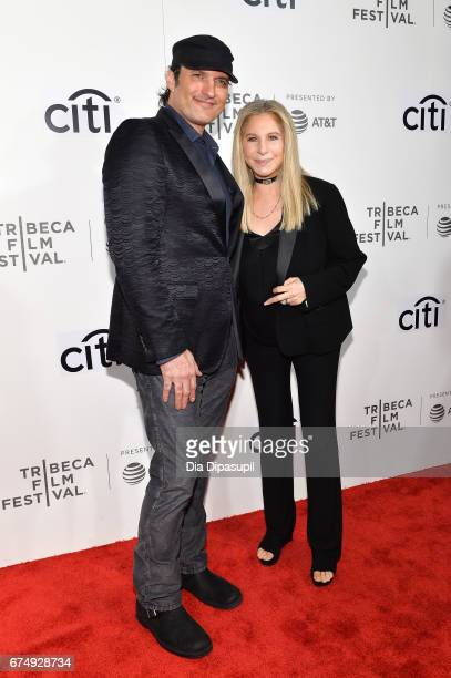 Robert Rodriguez and Barbra Streisand attend Tribeca Talks Barbra Streisand with Robert Rodriguez during the 2017 Tribeca Film Festival at BMCC...