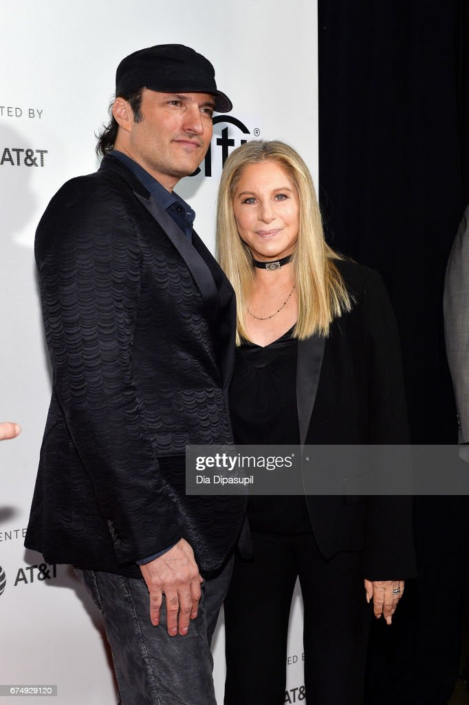 Robert Rodriguez (L) and Barbra Streisand attend Tribeca Talks: Barbra Streisand with Robert Rodriguez during the 2017 Tribeca Film Festival at BMCC Tribeca PAC on April 29, 2017 in New York City.