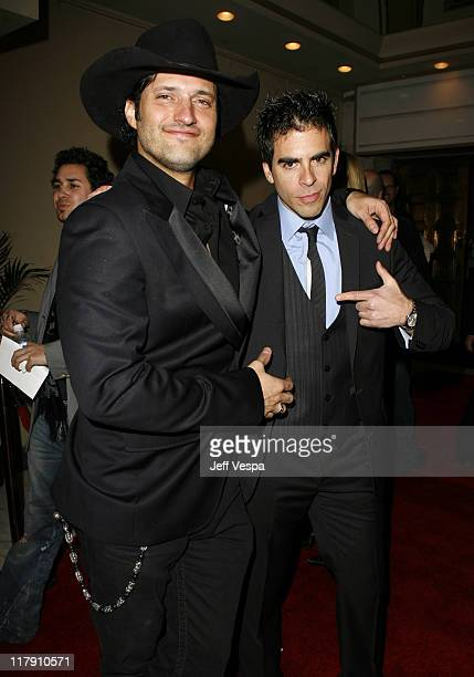Robert Rodriguez and Freddy Rodriguez during Grindhouse Los Angeles Premiere Red Carpet at Orpheum Theater in Los Angeles California United States