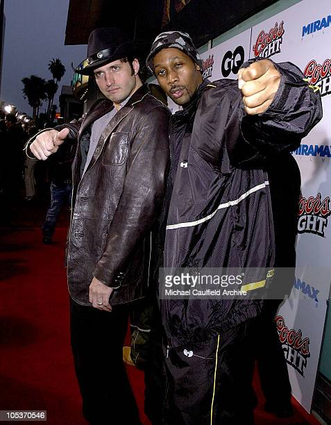 Robert Rodriguez and RZA of WuTang Clan during 'Kill Bill Vol 2' World Premiere Red Carpet at Arclight Cinerama Dome in Hollywood California United...