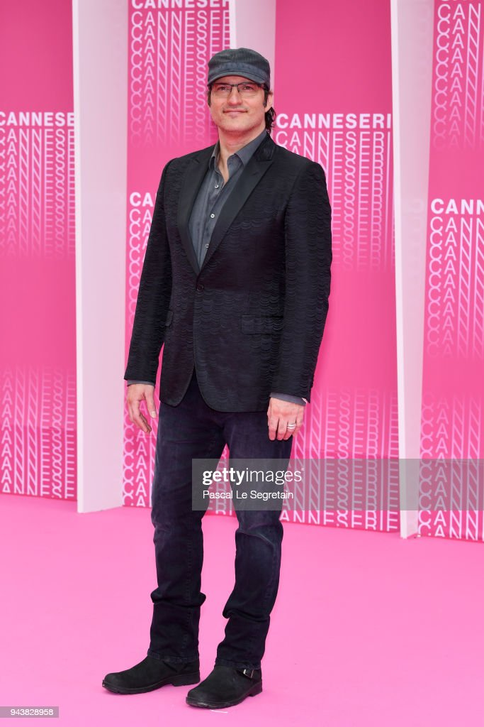 Robert Rodriguez attends 'Aqui En La Tierra' and 'Il Cacciatore' screening during the 1st Cannes International Series Festival at Palais des Festivals on April 9, 2018 in Cannes, France.