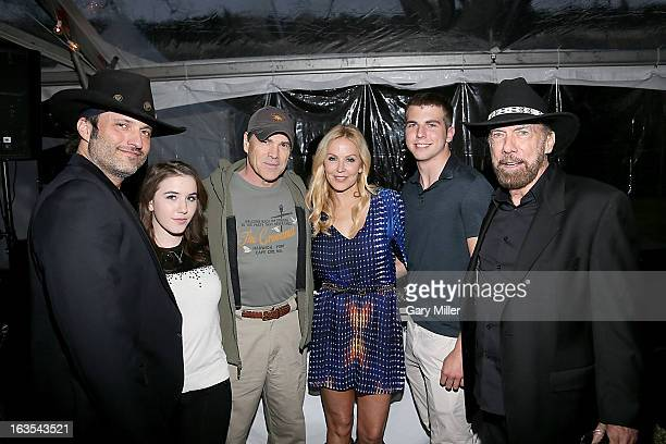 Robert Rodriguez Marci Madison Govenor Rick Perry Eloise DeJoria John Anthony DeJoria and John Paul DeJoria at the Forbes 30 Under 30 party at the...