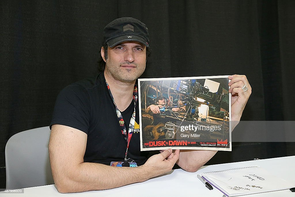 Robert Rodriguez poses in between meeting with fans during the Alamo City Comic Con at Henry B. Gonzalez Convention Center on September 12, 2015 in San Antonio, Texas.