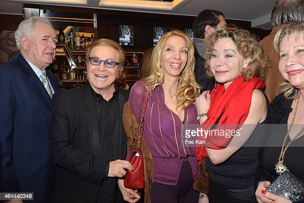 Robert Rossi Orlando Sylvie Elias and Grace de Capitani attend the Massimo Gargia Private photo exhibition dinner party at Le Cosy on February 25...