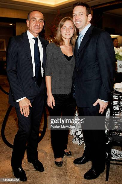 Robert Rufino Tanya Ryzhenko and Andrew Borrok attend TIFFANY Celebrates Dining in Style With ALPHA WORKSHOPS at Tiffany Co on October 16 2008 in...