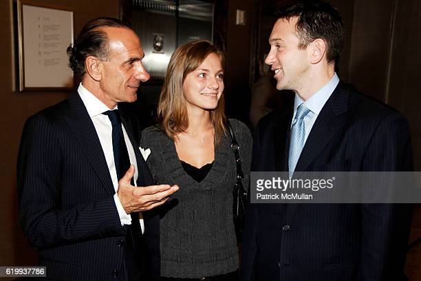 Robert Rufino Tanya Ryzhenko and Andrew Borrok attend TIFFANY Celebrates Dining in Style With ALPHA WORKSHOPS at Tiffany Co on October 16 2008 in New...