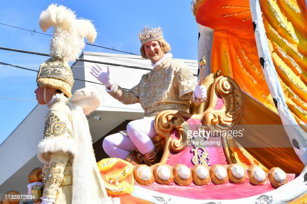 Robert S. Boh, reigns as Rex 2019, king of Carnival, on March 5, 2019 in New Orleans, Louisiana.
