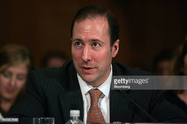 Robert S Nichols president and chief operating officer of the Financial Services Forum makes a statement at a hearing of the US Senate Committee on...