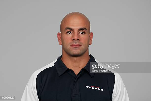 Robert Saleh of the Houston Texans poses for his 2008 NFL headshot at photo day in Houston Texas